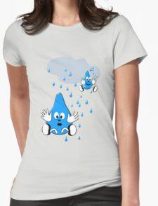 Regen ,regen, Raindrops  Womens Fitted T-Shirt