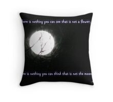Flower and Moon Throw Pillow