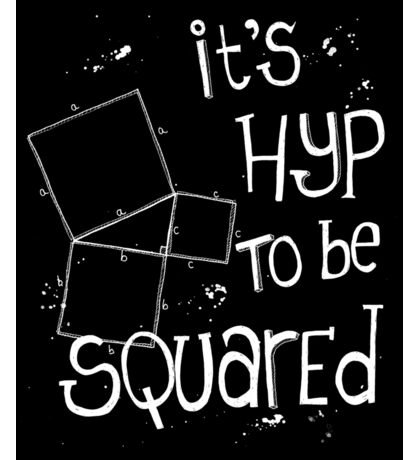 It's Hyp to be Squared (white) Sticker