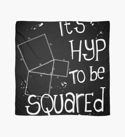 It's Hyp to be Squared (white) Scarf