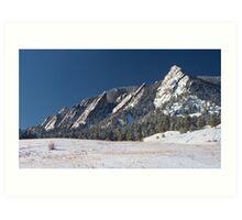 Snow Dusted Flatirons Boulder Colorado Panorama Art Print
