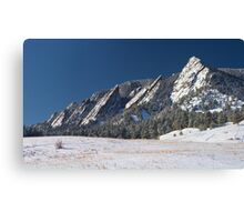 Snow Dusted Flatirons Boulder Colorado Panorama Canvas Print