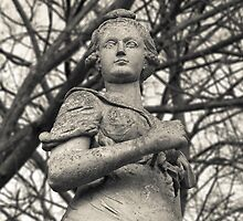 Statue with forest backdrop by MatBrd