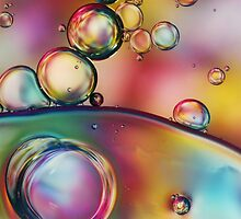 Rainbow Bubble Drops by Sharon Johnstone