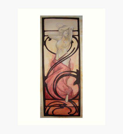 Born in fire (Alphone Mucha inspire) Art Print