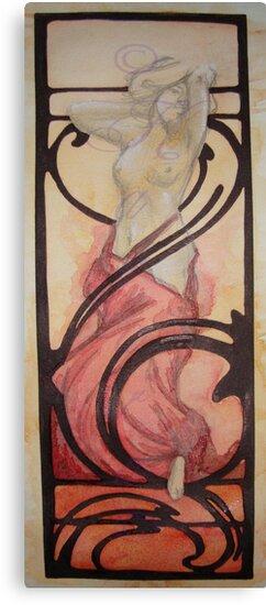 Born in fire (Alphone Mucha inspire) by Kagara