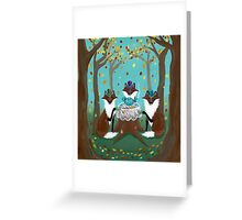 A Foxy Tea Party Greeting Card