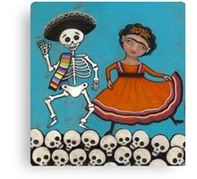 A Skeleton Dance Canvas Print