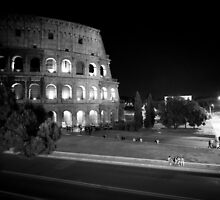 Colosseum at Night - Rome by Giulio Menna