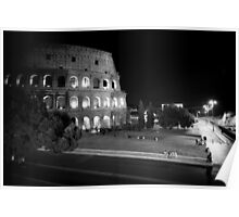 Colosseum at Night - Rome Poster