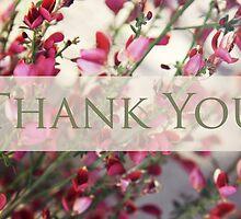 Thank You over Pink Flower by Megan Schatzman
