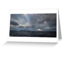 Angry Arctic Skies Greeting Card