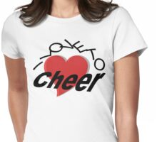 I Love To Cheer Womens Fitted T-Shirt