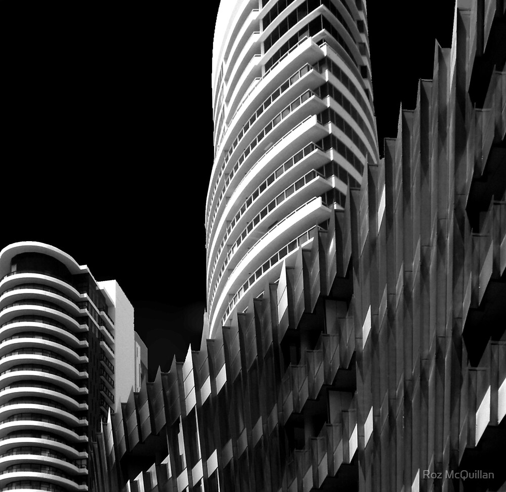 Lines and Curves, Melbourne Docklands by Roz McQuillan