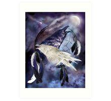 Dream Catcher - Legend Of The White Raven Art Print