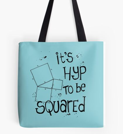It's Hyp to be Squared (black) Tote Bag