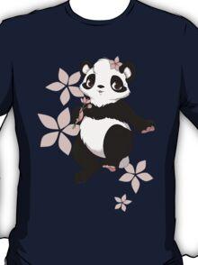 Girl panda with flowers T-Shirt