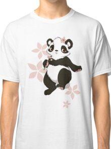 Girl panda with flowers Classic T-Shirt