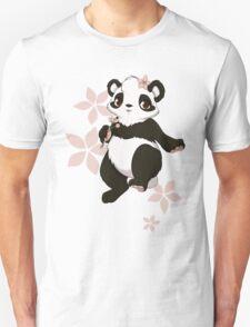 Girl panda with flowers Unisex T-Shirt