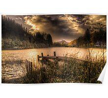 Loch Ard sunset Poster
