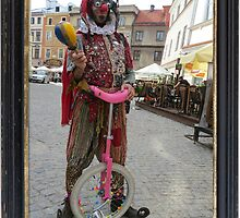 Jester & Pink Unicycle by jollykangaroo