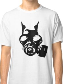 Future War Dog with a gas mask Classic T-Shirt