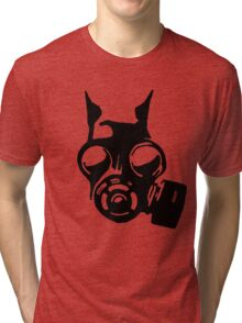 Future War Dog with a gas mask Tri-blend T-Shirt