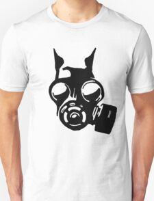 Future War Dog with a gas mask T-Shirt