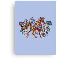 Folk Art Horse Canvas Print