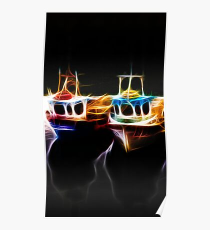 Crail 'light' Boats Poster