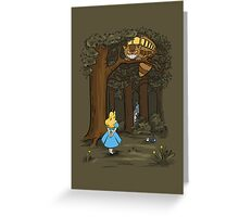 My Neighbor in Wonderland (Army) Greeting Card