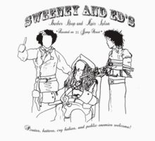 """Sweeney and Ed's Barber Shop and Hair Salon"" by SecretIdentity"