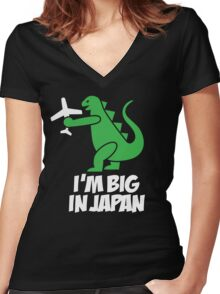 I'm big in Japan - Godzilla Women's Fitted V-Neck T-Shirt