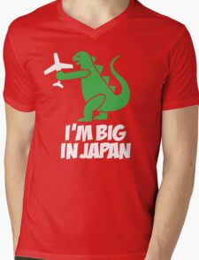 I'm big in Japan - Godzilla Mens V-Neck T-Shirt