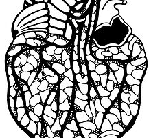 B&W Heart by Fred  Wordie