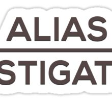 Alias Investigations Sticker
