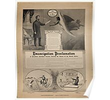 Emancipation proclamation of President Abraham Lincoln Freeing the Slaves of the United States Poster