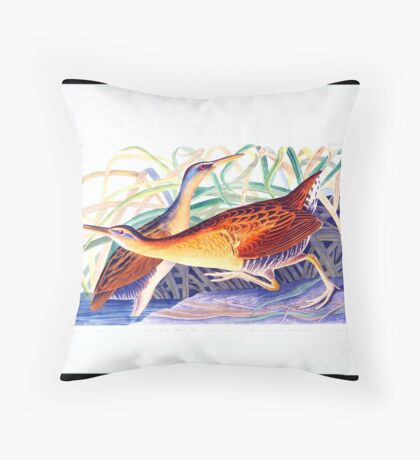 Great Red-breasted Rail or Fresh-water Marsh Hen Throw Pillow