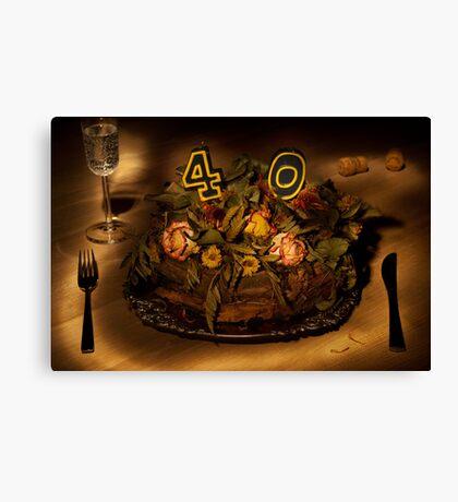 Birthday cake nr 40 Canvas Print