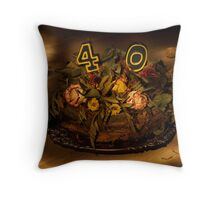 Birthday cake nr 40 Throw Pillow