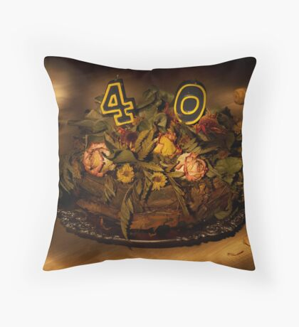 Birthday cake nr 40 Throw Pillow