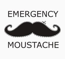 Emergency Moustache Kids Tee