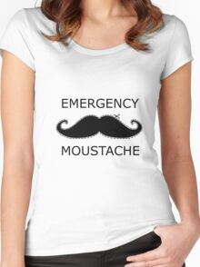 Emergency Moustache Women's Fitted Scoop T-Shirt