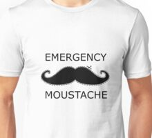 Emergency Moustache Unisex T-Shirt