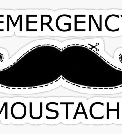 Emergency Moustache Sticker