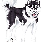Black Siberian Husky (no text) by Mayra Boyle