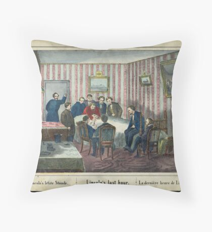 Lincoln's last hour Throw Pillow