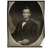 Portrait of Lincoln holding a document in his left hand, facing slightly left Poster