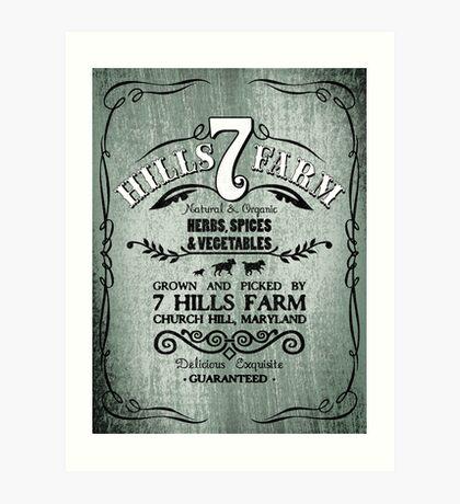 7 HILLS FARM Art Print