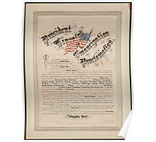 President Lincoln's emancipation proclamation 2 Poster
